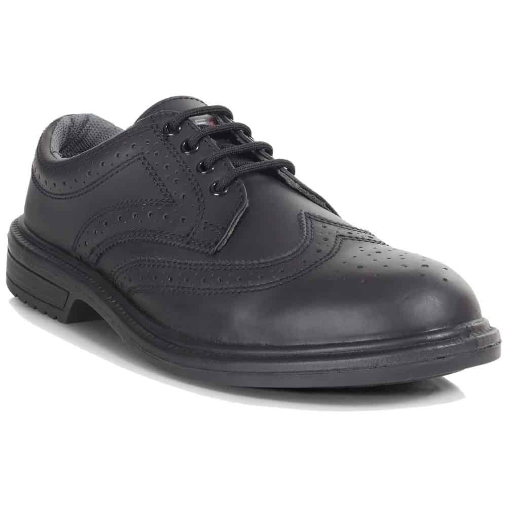 PB69-BLK - Executive Brogue Shoe - Right Angle (Square)