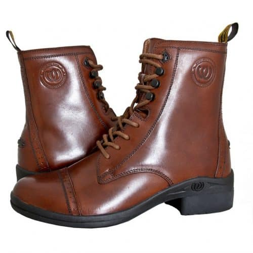 HW902 Premium Paddock Lace Side Zip Boot - Chocolate (Side by Side Pair) (Square)