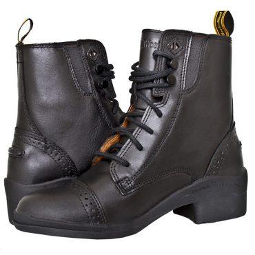 HW101 Kids Paddock Lace Boot - Black (Pair) (Square)