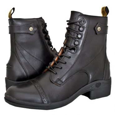 HW901 Premium Paddock Lace Side Zip Boot - Black (Pair) (Square)